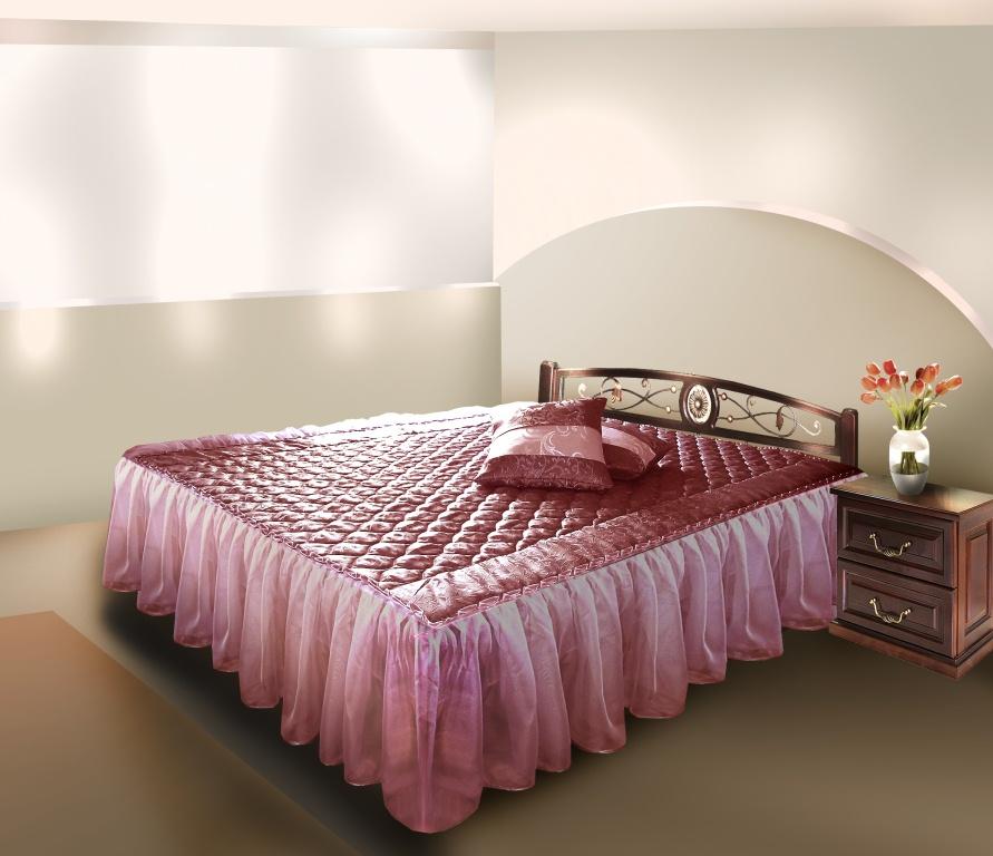 Покрывало без оборки на кровать своими руками